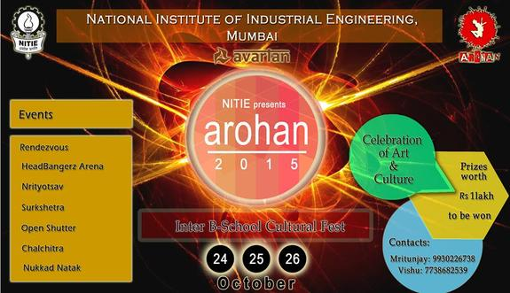 Arohan 15, National Institute of Industrial Engineering, October 24-26 2015, Mumbai, Maharashtra