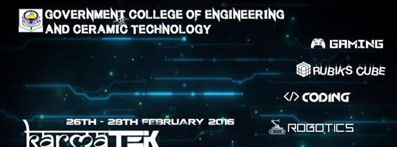 Karmatek 2K16, Government College of Engineering & Ceramic Technology, Feb 26-28 2016, Kolkata, West Bengal