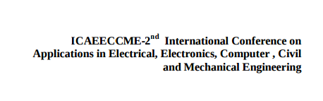 ICAEECCME-2 nd, Applications of Engineering Technology and Science (AETS), Jan 25 2016, Coimbatore, Tamilnadu