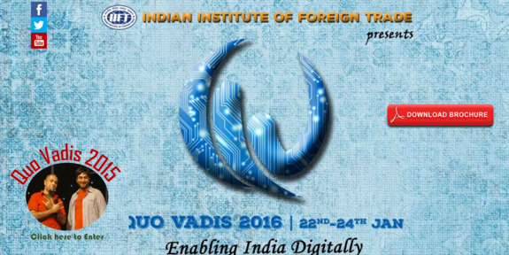 IIFT Marathon 2016, Indian Institute of Foreign Trade (IIFT), Jan 22-24, 2016, New Delhi