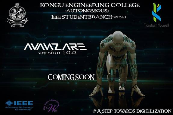 AvanzAre v10.0, Kongu Engineering College, March 17-18 2016, Erode, Tamil Nadu