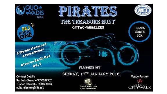 PIRATES - City-Wide Treasure Hunt, Indian Institute of Foreign Trade, Jan 17 2016, Delhi