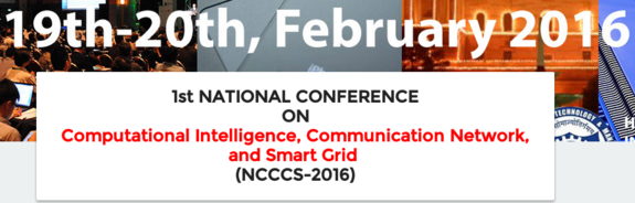 NCCCS-2016, HMR Institute of Technology & Management (HMRITM), Feb 19-20, 2016, New Delhi