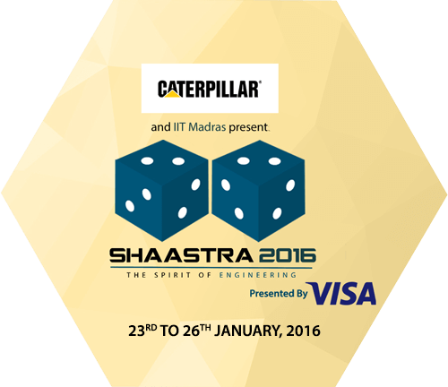 Shaastra 2016, Indian Institute of Technology (IIT), Jan 23-26 2016, Chennai, Tamil Nadu