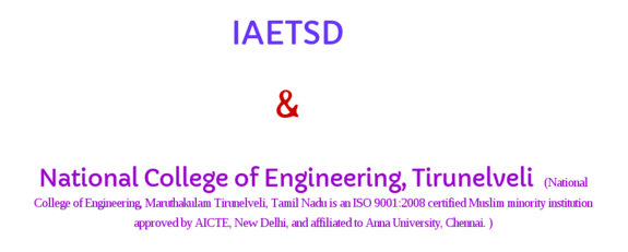 Workshop on Soft Computing Techniques & its Applications WSCTIA 2016, National College of Engineering, February 1 2016, Tirunelveli, Tamil Nadu