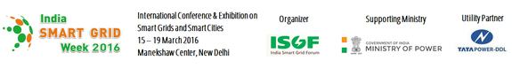 International Conference & Exhibition on Smart Grids & Smart Cities, March 15-19 2016, New Delhi