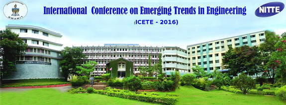 International Conference on Emerging Trends in Engineering (ICETE-2016), NMAM Institute of Technology, May 12-13, 2016, Nitte, Karnataka