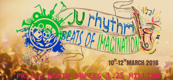JU-RHYTHM 2016, JECRC University, March 10-12 2016, Jaipur, Rajasthan