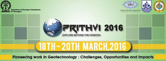 Prithvi 2016, Indian Institute of Technology (IIT), Mar 18-20, 2016, Kharagpur, West Bengal