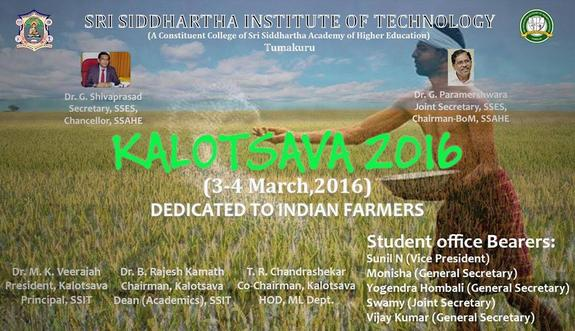 Kalotsava 2016, Sri Siddhartha Institute of Technology, March 3-4 2016, Tumkur, Karnataka