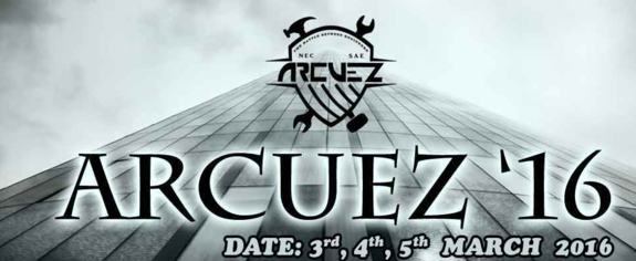 ARCUEZ 2K16, National Engineering College, March 3-5 2016, Kovilpatti, Tamil Nadu