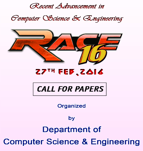 Recent Advancement in Computer Science & Engineering 16, Bethlahem Institute of Engineering, Feb 27 2016, Karungal, Tamil Nadu