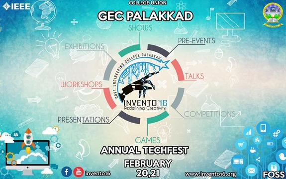 INVENTO 16, Government Engineering College, Feb 20-21 2016, Palakkad, Kerala