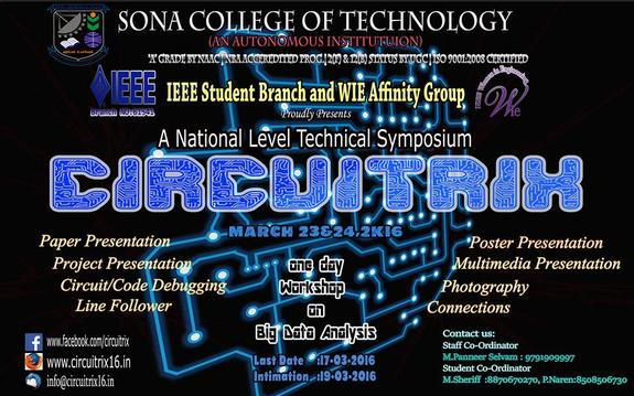 Circuitrix 16, Sona College of Technology, March 23-24 2016, Salem, Tamil Nadu