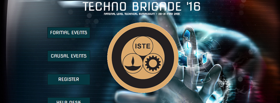 TECHNOBRIGADE 2K16, KS Rangasamy College of Technology, March 29-31 2016, Tiruchengode, Tamil Nadu