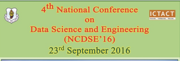 National Conference on Data Science and Engineering 16, Annapoorana Engineering College, September 23 2016, Salem, Tamil Nadu