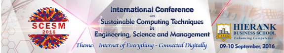 International Conference on Sustainable Computing Techniques in Engineering Science and Management