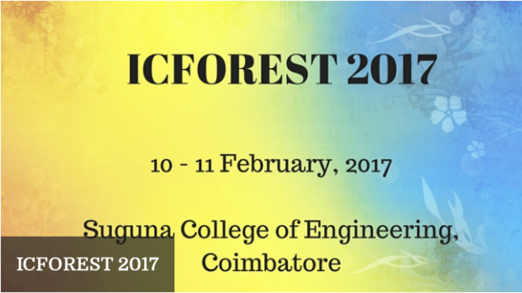 International Conference on Frontiers of Research in Engineering Science and Technology  2017, SCE, February  10-11 2017, Coimbatore, Tamil Nadu