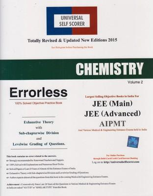 Chemistry  Errorless 100% Solved Objective Practice Book (Set Of 2 Volumes) by Competition Books