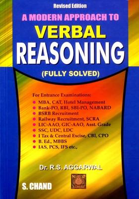 A Modern Approach to Verbal Reasoning (English) 2nd Edition by R S Agarawal