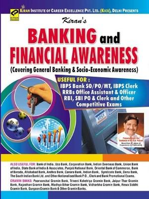 Banking And Financial Awareness (Covering General Banking & Socio-Economic Awareness) IBPS Bank PO/SO/MT,IBPS Clerk,RRBs Office Assistant & Officer Rbi,SBI PO & Clerk by Kiran Prakashan