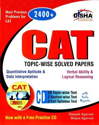 CAT Topic-Wise Solved Papers (With CD) (English) by Agarwal D