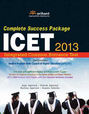 Complete Success Package for ICET 2013 (Integrated Common Entrance Test) (English) by Anju Agarwal