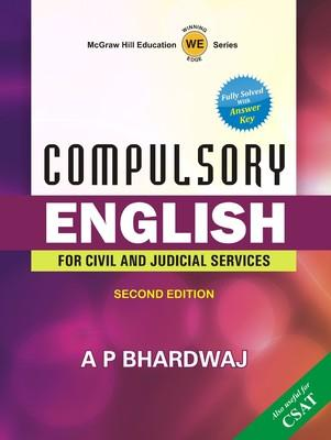 Compulsory English : For Civil and Judicial Services (English) 2nd  Edition by BHARDWAJ