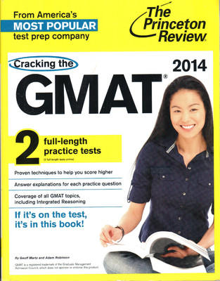 Cracking the GMAT with 2 Practice Tests, 2014 Edition (English) by Princeton Review Martz