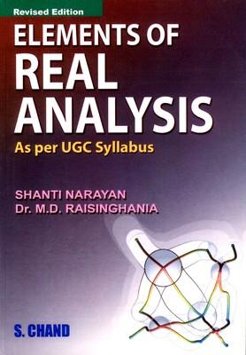 Elements Of Real Anyalsis (English) 6th Edition by Shanti Narayan, M D Raisinghania