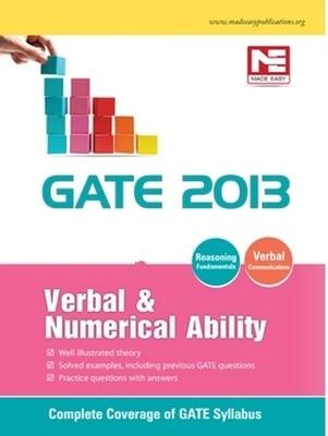 GATE 2013 Verbal & Numerical Ability Verbal & Numerical Ability PB (English) by Made Easy Publications