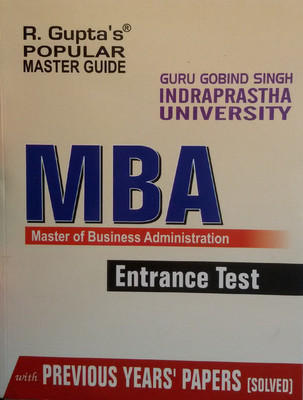 GGSIPU - MBA Entrance Test (English) 2012 Edition by RPH Editorial Board