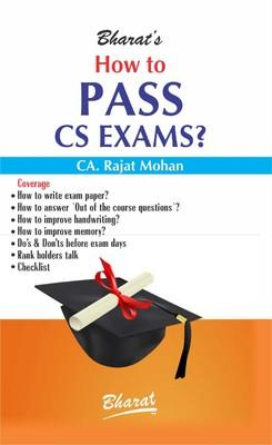 How to Pass CS Exams? (English) 1st Edition by Rajat Mohan