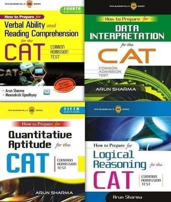 How to Prepare for the CAT Common Admission Test (Set of 4 Books) by Upadhyay Meenakshi|Author; Sharma Arun|Author;-English-Tata McGraw-Hill-Paperback (English) by 2095