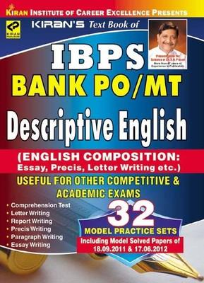 IBPS Bank PO/MT Descriptive English by Kiran Prakashan