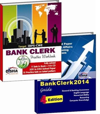 IBPS - CWE Bank Clerk 2014 - Practice Workbook / Guide (With CD) (Set of 2 Books) (English) by Disha Experts
