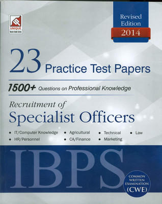 IBPS (CWE) Recuirement of Specialist Officers 23 Practice Test Papers 1500+ Question in Professional Knowledge (English) 1st  Edition by Unique Research Academy
