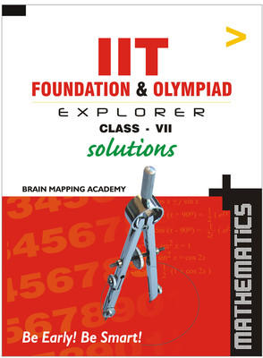 IIT Foundation: Maths Solutions (Class 7) (English) 01 Edition by Brain Mapping Academy
