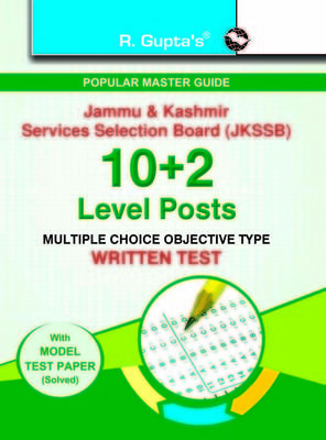 J&K Services Selection Board10+2 Level PostsWritten Test Guide (English) by RPH Editorial Board