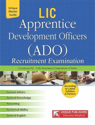 LIC ADO Apprentice Development Officers Recruitment Examination Guide (English) by Unique Research Academy