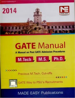 Manual on Post GATE Admissions Procedures 2014 by Made Easy Publications
