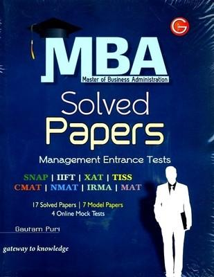 MBA Solved Papers (XAT,IIFT,SNAP,MAT,NMAT,IRMA,CMAT) Includes Online Mock Test PB (English) 7th  Edition by Puri G
