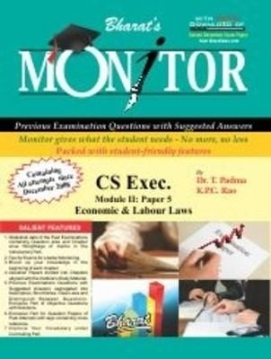 Monitor CS Executive: Economic & Labour Laws, Module - 2 (Paper - 5) PB (English) 1st  Edition by K P C Rao