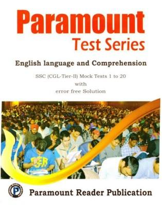 Paramount Test Series SSC CGL Mains (English Language & Comprehension) 1 - 20 Mock Tests (English) by