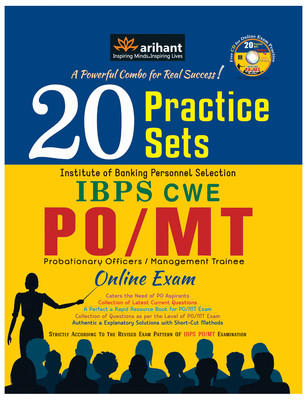 20 Practice Sets IBPS CWE PO/MT Online Exam (English) 1st Edition by Arihant