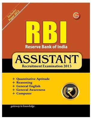 RBI : Assistant Recruitment Examination 2013 (English) 11th  Edition by G K Pub