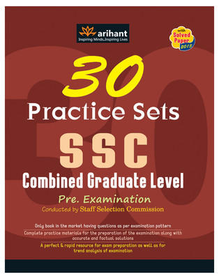 SSC - Combined Graduate Level Pre. Examination : 30 Practice Sets (English) 4th Edition by Arihant Experts