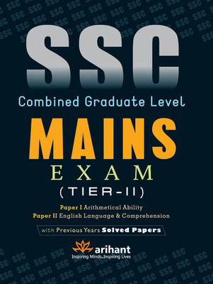 SSC Combined Graduate Level Mains Exam (Tier - 2) Paper 1 and 2 (English) 4th Edition by Arihant Experts
