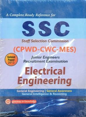SSC CPWD-CWC-MES Junior Engineers Electrical Engineering : Recruitment Examination Includes Solved Papers 2013 (English) 7th  Edition by GKP