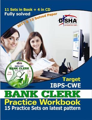 Target IBPS - CWE Bank Clerk Practice Workbook (With CD) : 15 Practice Sets on Latest Pattern (English) 3rd Edition by Disha Experts
